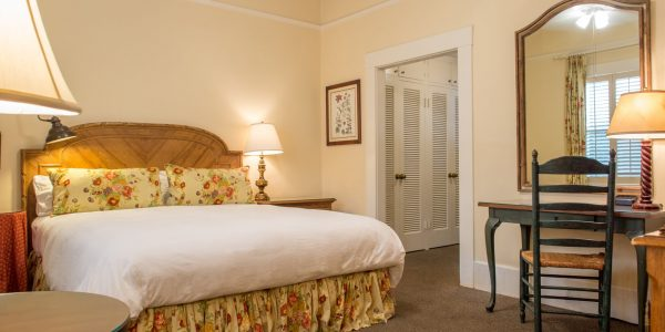 Single King room at the Upham Hotel